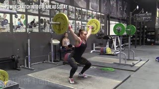 Power Snatch into Overhead Squat - Olympic Weightlifting Exercise Library - Catalyst Athletics