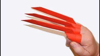Como hacer las garras de Wolverine (Garras de Papel)