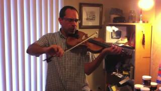 Howard Rains plays When I was a Cowboy, old time fiddle
