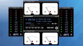 Audacious + VU meter plugin