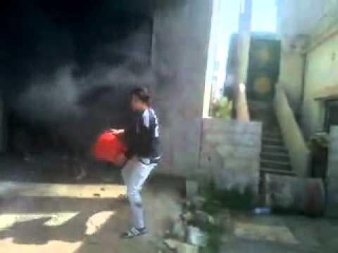 خربة غزالة - محاولة إخماد حرائق الأسد في المحال 9-4-2012