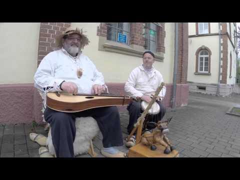 Duo Dulcimus Mittelaltermarkt Tübingen 2016 Dulcimer und Djembe