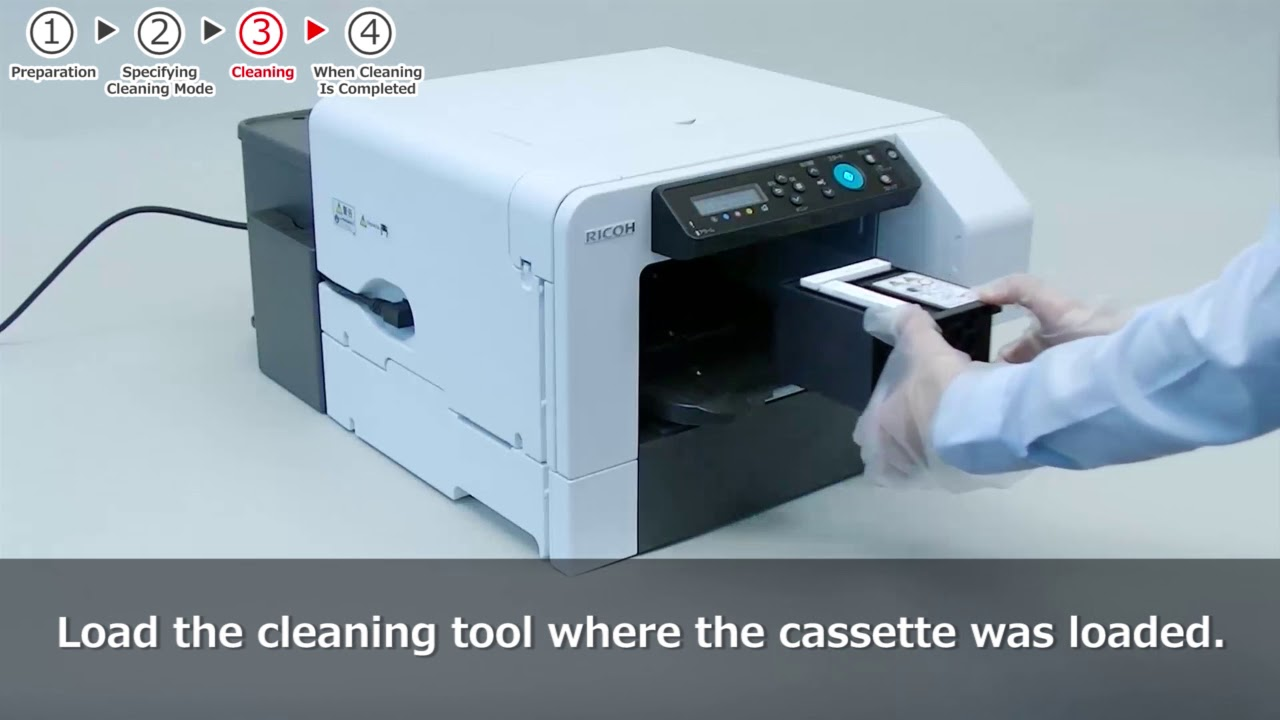 Ricoh Ri 100 - Cleaning the Print Head Nozzles