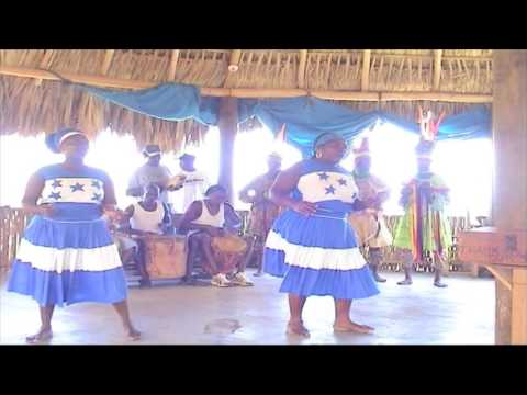 HONDURAS - ROATAN Caribbean Sea view, folk music