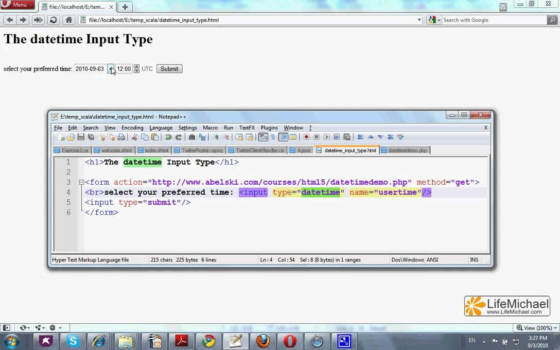 The HTML 5 'datetime' Input Type