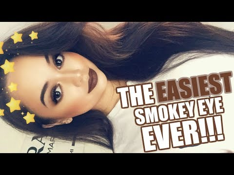 THE EASIEST SMOKEY EYE EVER!!!