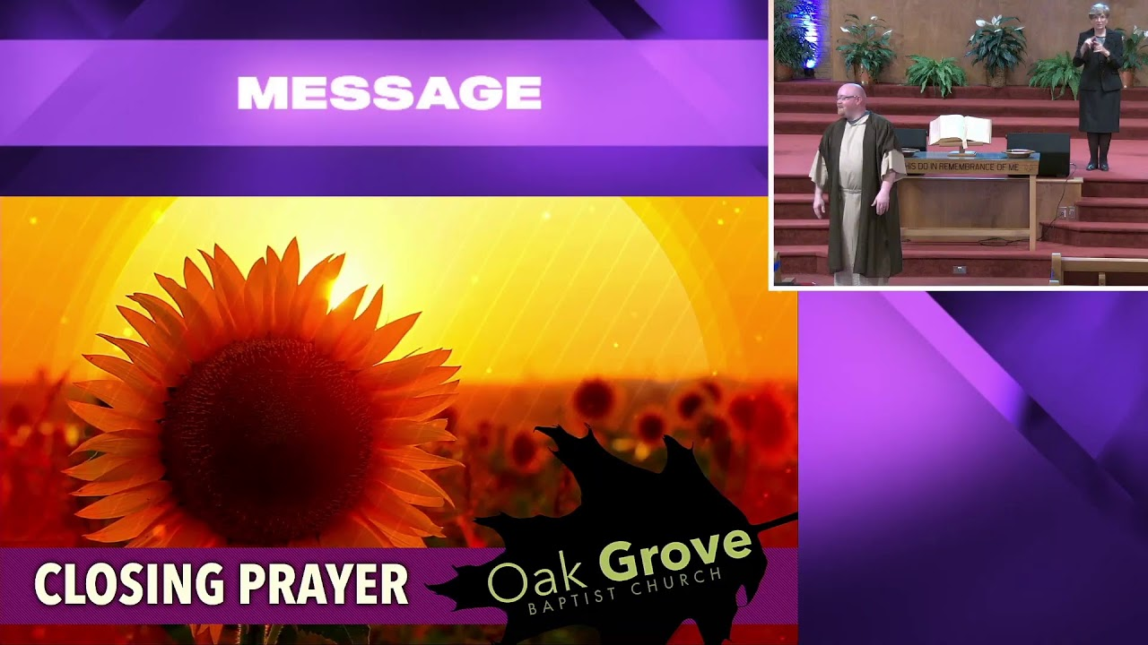 Sunday Morning Worship @ OGBC (Oct. 11, 2020)