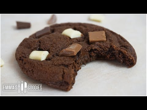 Triple Chocolate Chunk Cookie Recipe Chewy Chocolate Cookie Recipe