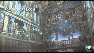 La plaza de San Pedro se prepara para la multitudinaria misa del Domingo de Ramos