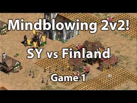 Mindblowing 2v2! SY vs Finland! ECL 2v2 Semi Finals