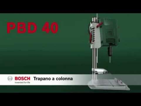 trapano a colonna bosch pbd 40 youtube. Black Bedroom Furniture Sets. Home Design Ideas