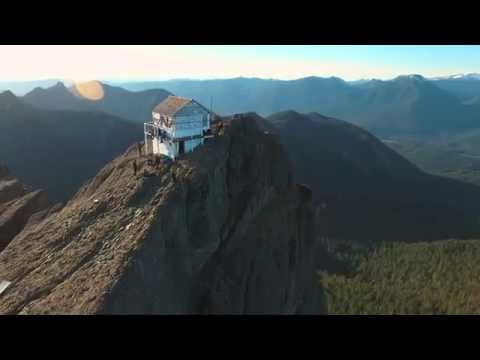 High Rock Fire Lookout from the Sky!