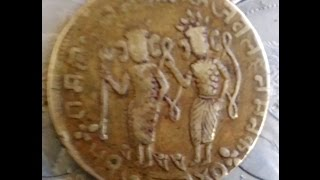 COIN OF RAM DARBAR 1740, IT'S PRESENT TIME VALUE IS 2.5 Cr. RUPEE