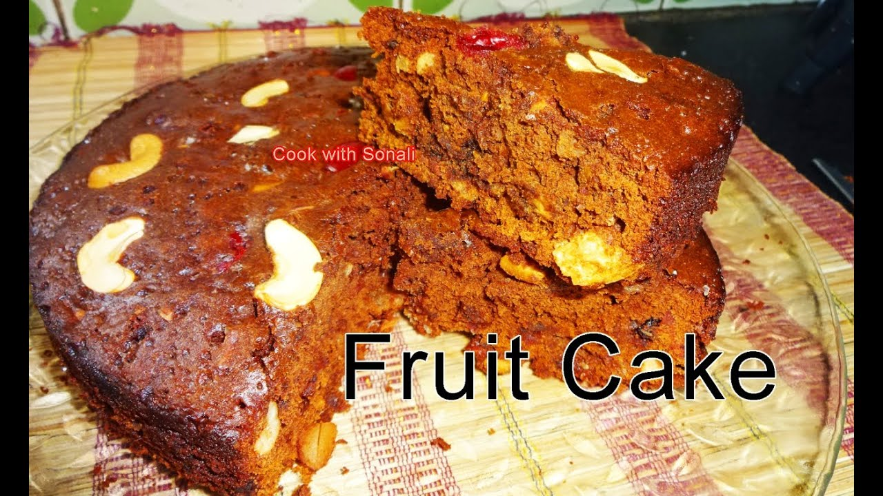 Fruit Cake In Gas Oven Microwave By Cook With Sonali