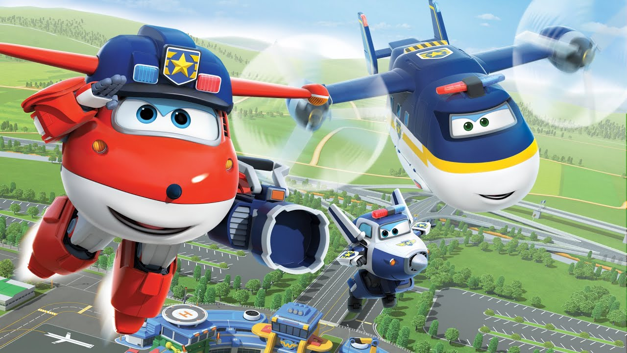 Download [Superwings s3 team episodes] Police Team   Police car   Police plane   Policeman