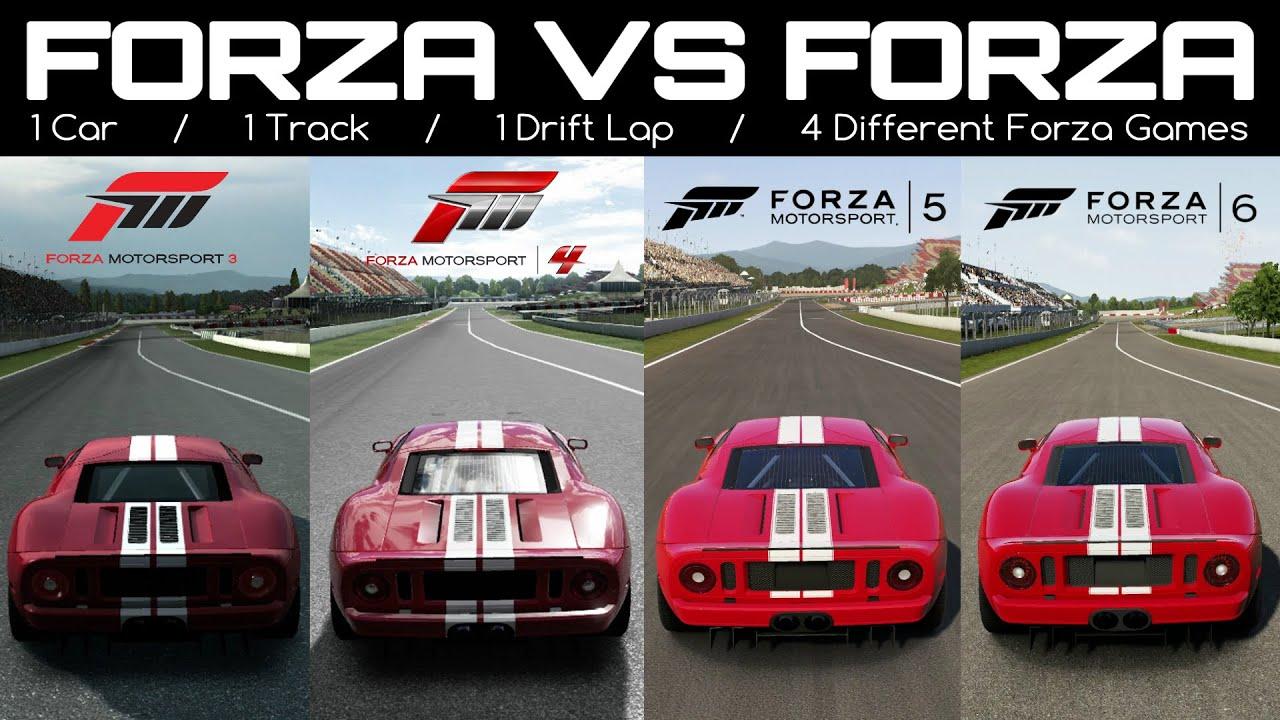 Forza 6 Vs Forza 5 Vs Forza 4 Vs Forza 3   Ford GT Drift ...