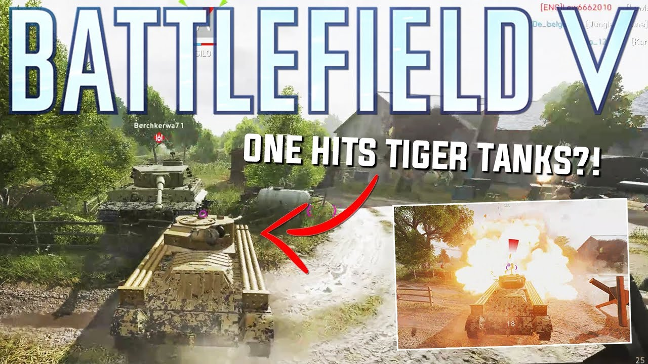 One hitting enemy tanks with the MINE CLEARER! - Battlefield 5