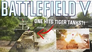 One hitting enemy tanks with the MINE CLEARER  Battlefield 5
