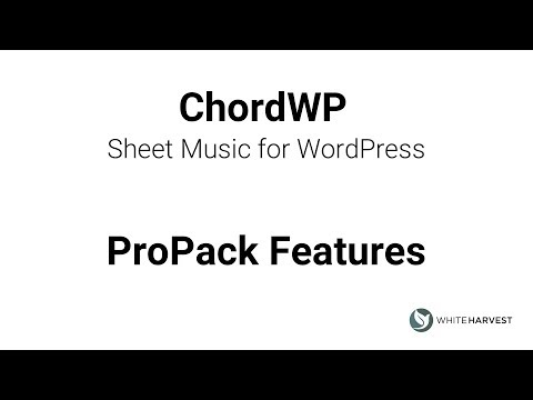 ChordWP ProPack - Transpose, Download, and Share Lyrics and Chords