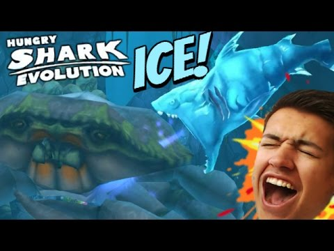 NEW ICE SHARK! SPECIAL SHARK |  Hungry Shark Evolution | ICE SHARK VS GIANT CRAB!