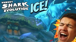 NEW ICE SHARK! SPECIAL SHARK |  Hungry Shark Evolution | ICE SHARK VS GIANT CRAB!