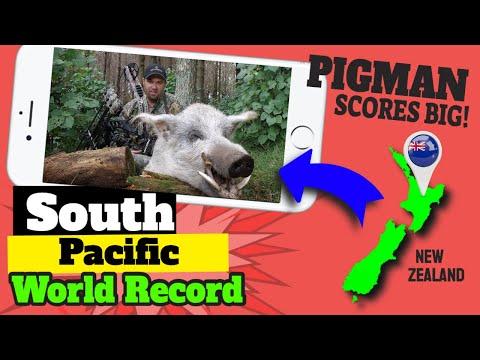South Pacific World Record Wild Hog Archery Kill on Camera!!