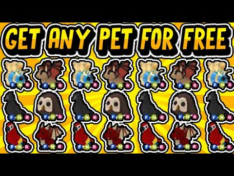 How To Get Free Pets In Adopt Me Free Legendary Pets July 2020 Roblox Youtube