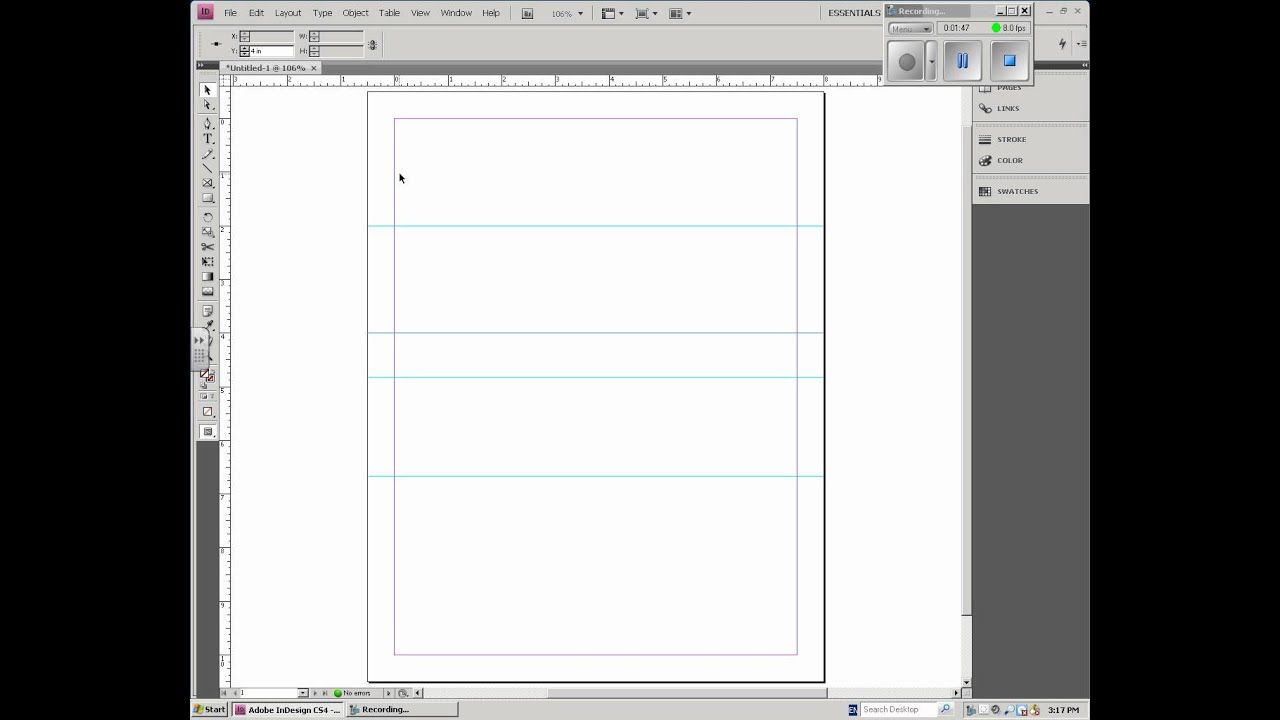 DTP - InDesign - Business Card Setup - YouTube