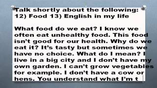 1000 английских топиков Часть 6  Food English in my life еда английский в моей жизни