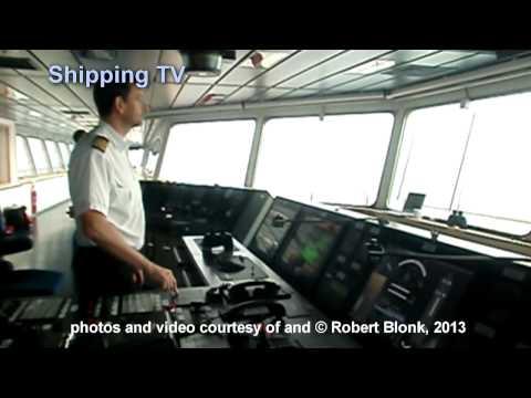 Majestic Maersk into Rotterdam - pilot's eye view