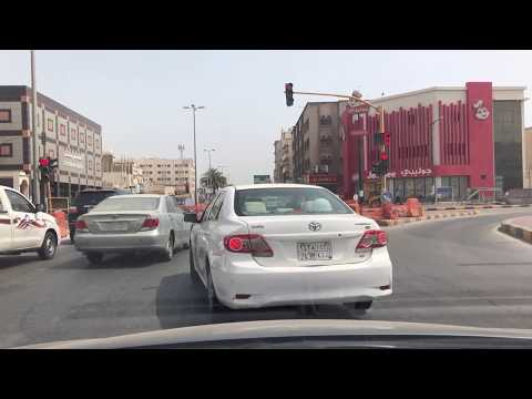 Driving in streets of Saudi Arabia Jubail city سواقة في السع