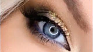 Вечерний макияж с золотым блеском