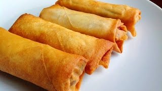 Egg Rolls Recipe Chinese - Easy Homemade Egg Rolls Video Tutorial by (HUMA IN THE KITCHEN)