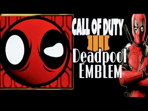 Call of Duty Black Ops 4 COD BO4 (Deadpool) Emblem