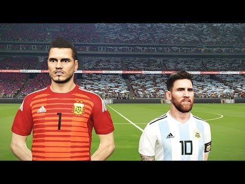 PES 2018  ARGENTINA vs ICELAND  FIFA World Cup  Messi scored last minute  Gameplay PC