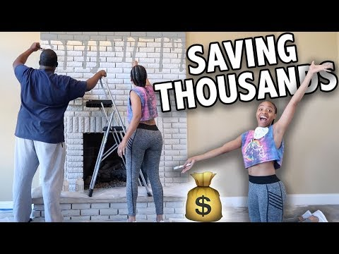 My Real Life | VLOG #72 - DIY Fireplace Makeover! + Painting Our ENTIRE House