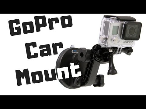 GoPro suction mount for car and windshield: how to vlog in the car