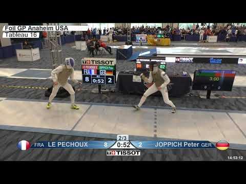 2018 140 T16 02 M F Individual Anaheim USA GP BLUE LE PECHOUX FRA vs JOPPICH GER