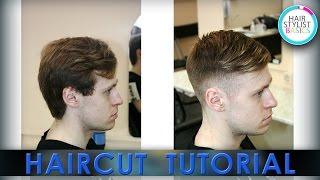 Man's haircut  (Короткая мужская стрижка с контрастной длиной)