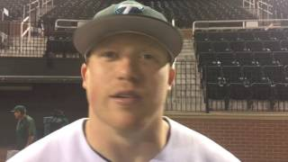 Hunter Williams discusses 3 hit performance against McNeese