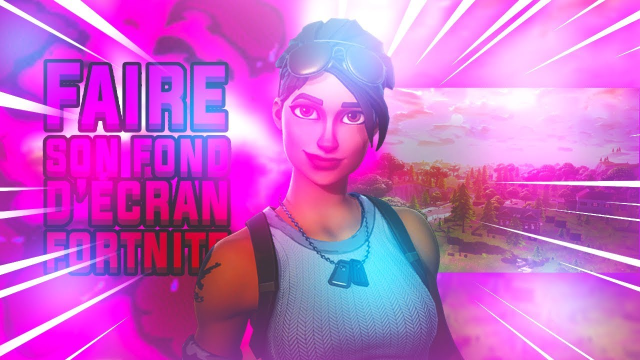 Comment faire un fond d 39 ecran wallpaper fortnite youtube for Fond ecran fortnite