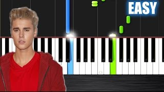 Justin Bieber - Love Yourself - EASY Piano Tutorial by PlutaX - Synthesia