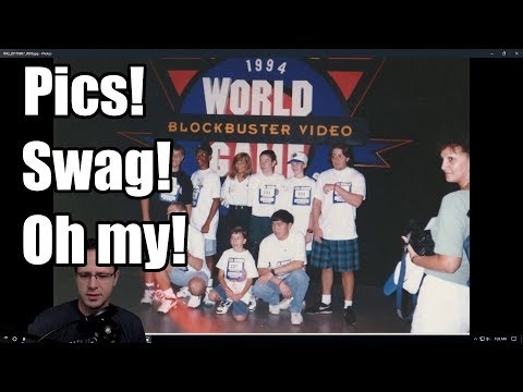1994 Blockbuster Video Game Championships - Pictures and Swag!