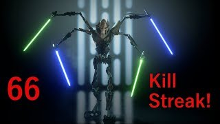 66 General Grievous Killstreak! - Star Wars Battlefront 2