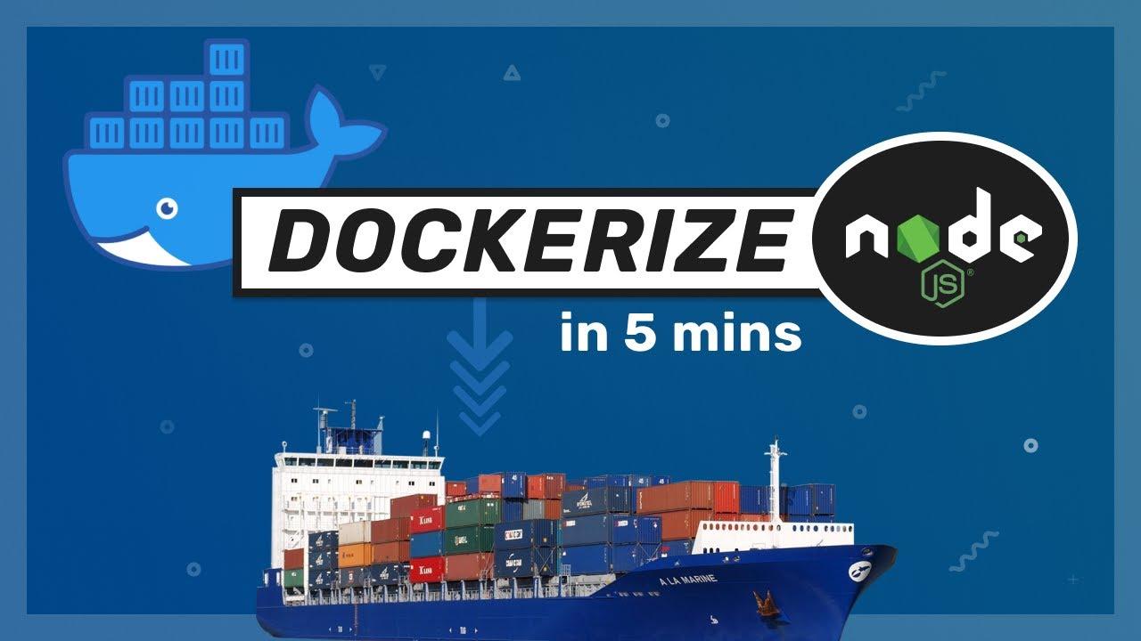 Docker with Nodejs in 5 mins // Docker Tutorial