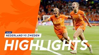 Highlights OranjeLeeuwinnen - Zweden (3/7/2019)  WK 2019