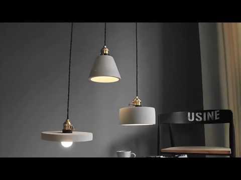 Concrete pendant lamp - Mooielight