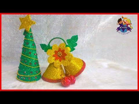 Christmas Decorations Ideas || christmas tree santa claus || Kruthi DIY Craft Ideas