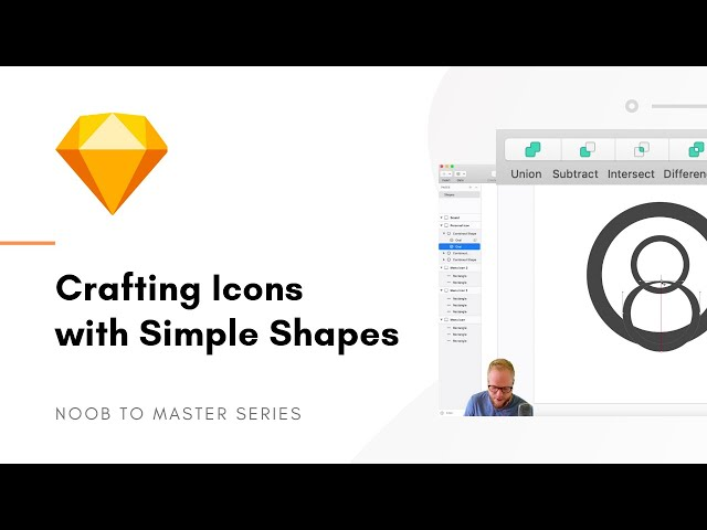 Create Icons from Scratch with Shapes - Sketch: Noob to Master, ep3