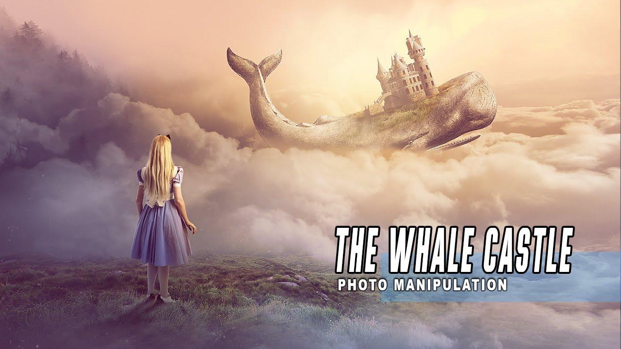 Photoshop Manipulation Tutorial Fantasy The Whale Castle